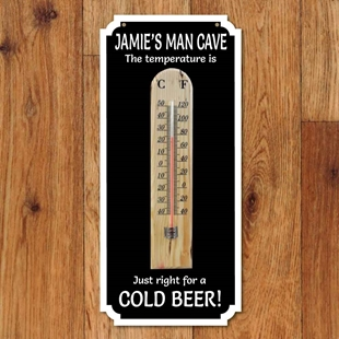 Picture of Personalised Thermometer Bar Sign