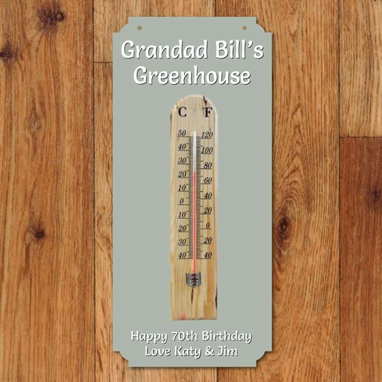 Picture of Personalised Thermometer Garden Sign