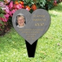Picture of Personalised Photo Heart Memorial Plaque