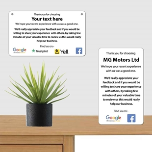 Picture of Personalised Business Feedback Review Sign