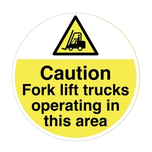 Picture of Fork Lift Truck Warning Floor Sticker