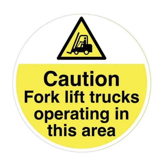 Picture of Fork Lift Truck Warning Floor Sticker