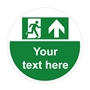 Picture of Personalised Fire Exit Floor Sticker - Anti slip