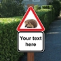 Picture of Slow Hedgehog Road Safety Sign