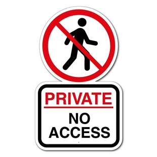 Picture of Personalised No Entry Private Property Outdoor Sign