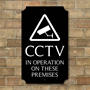 Picture of Personalised Robust  CCTV Sign, Classic Design