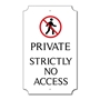 Picture of Personalised PRIVATE NO ACCESS, Classic Design