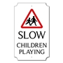 Picture of Personalised Slow Children Sign, Classic Design