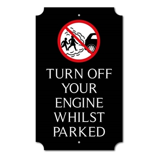 Picture of Personalised Switch Off Your Engine Sign, Classic Design