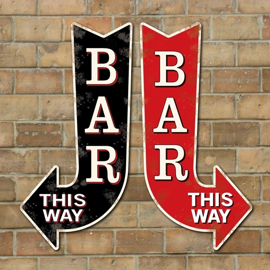 Picture of Vintage Style BAR Arrow Sign