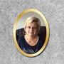 Picture of Outdoor Photo Grave Marker Plaque with border