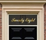 Picture of Mirror Gold Lettering For Door Windows