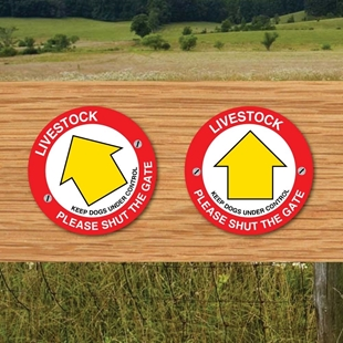 Picture of Livestock Shut the gate sign Keep to Footpath