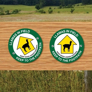 Picture of LLAMA Safety Signs Keep to Footpath