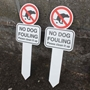 Picture of NO DOG FOULING Signs on Stakes 2pk