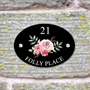 Picture of Country Rose House Sign Plaque