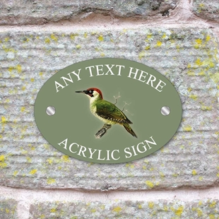 Picture of Green Woodpecker House Sign Plaque