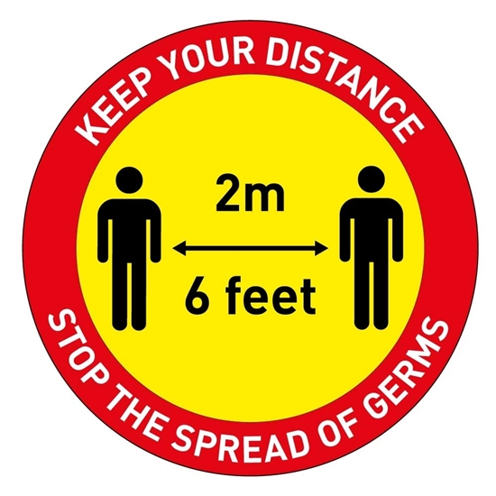 Picture of Social Distance Floor Sticker