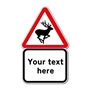 Picture of DEER IN ROAD SIGN