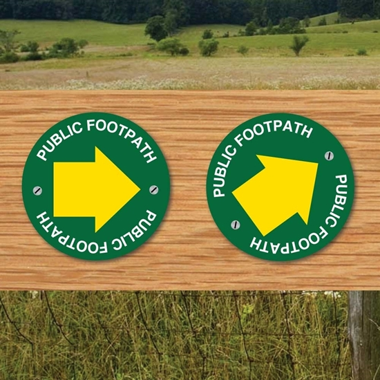 Picture of Public Footpath Way Marker Sign