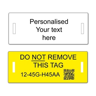 Picture of Slotted pvc personalised labels