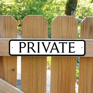 Picture of PRIVATE Sign