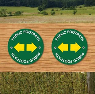 Picture of Two Way Arrow Public Footpath Way Marker Sign