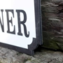 Picture of Personalised Vintage Road Sign Family Name plaque