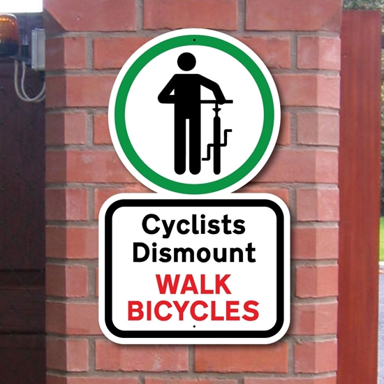Picture of Cyclists Dismount Sign