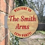 Picture of Personalised Barrel Projecting Sign