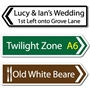 Picture of Wall Mounted Personalised Road Direction Pointing Sign