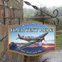 Picture of The Spitfire Personalised Home Bar Hanging  Pub Sign