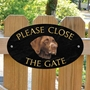 Picture of GERMAN POINTER (Brown) Close the gate sign
