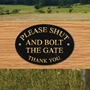 Picture of Shut & bolt the gate sign