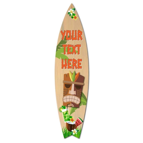 Picture of Personalised Tiki Bar Surf Board