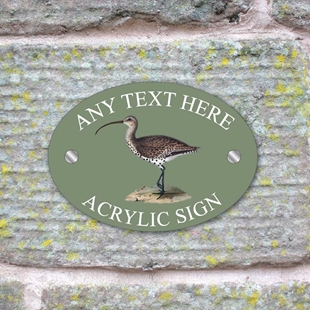Picture of Personalised Curlew Bird House Sign