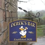 Picture of Personalised Home Bar Hanging  Pub Sign with duck logo