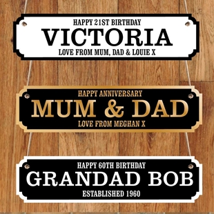 Picture of Personalised road sign gift for anniversary & birthdays