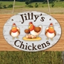 Picture of Personalised Chicken Coop Sign Hen House Plaque