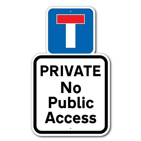 Picture of No Public Access No Entry Sign