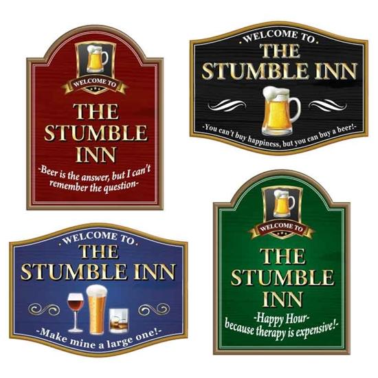 Picture of THE STUMBLE INN funny joke pub sign