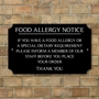 Picture of Food Allergy Notice Sign - Classic Design