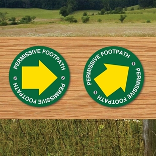 Picture of Permissive  Footpath Way Marker Sign