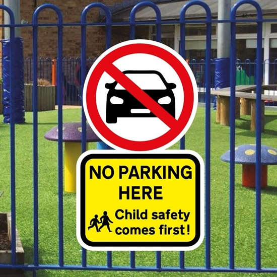 Picture of SCHOOL NO PARKING Sign