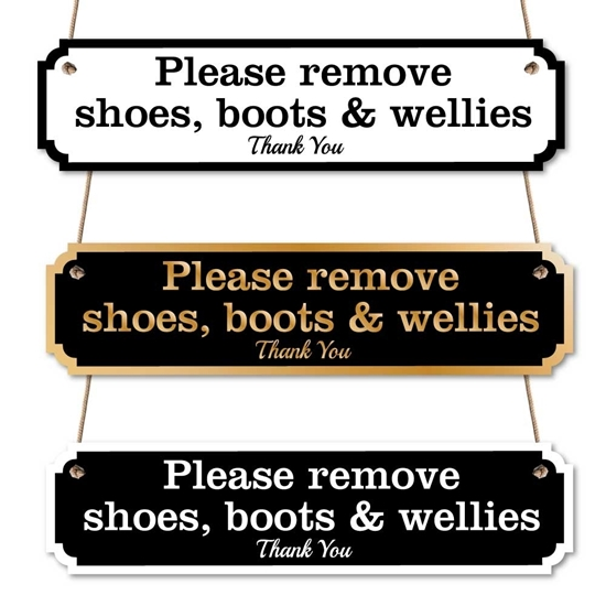 Picture of Remove your shoes sign
