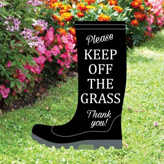 Picture of Please Keep Off The Grass Lawn Sign
