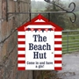 Picture of Personalised Beach Hut Hanging Sign