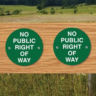 Picture of No Public Right Of Way Signs