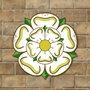 Picture of White Yorkshire Rose Shaped Sign