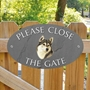 Picture of Husky Close the gate sign